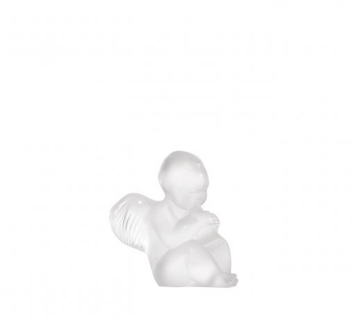 Lalique crystal sculpture paperweight Cherub with Flute 1212000