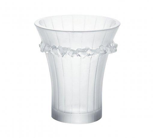 Lalique crystal vase Boulouris 10065200 size 15 cm x 13 cm