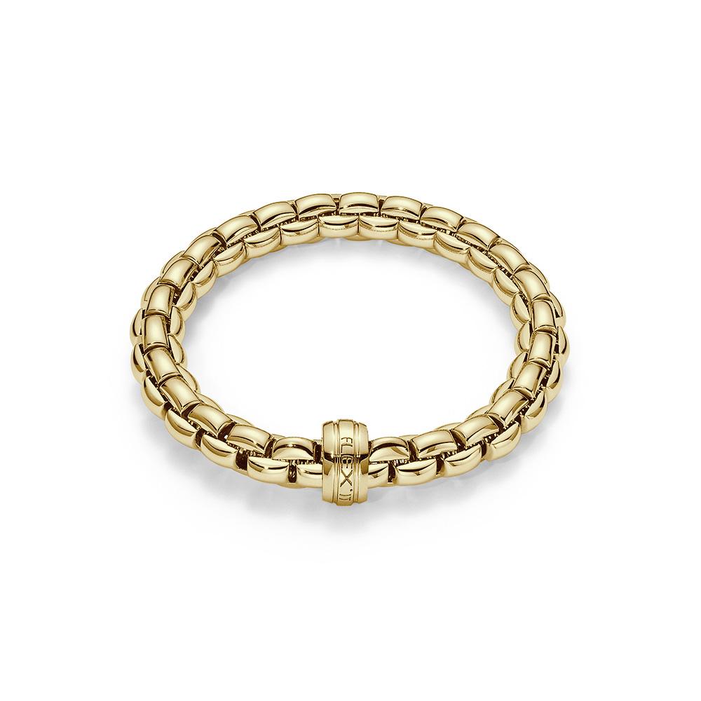 Fope Bracelet flexible tubular in yellow gold 18 kt  tit 750/000 Size medium 604B