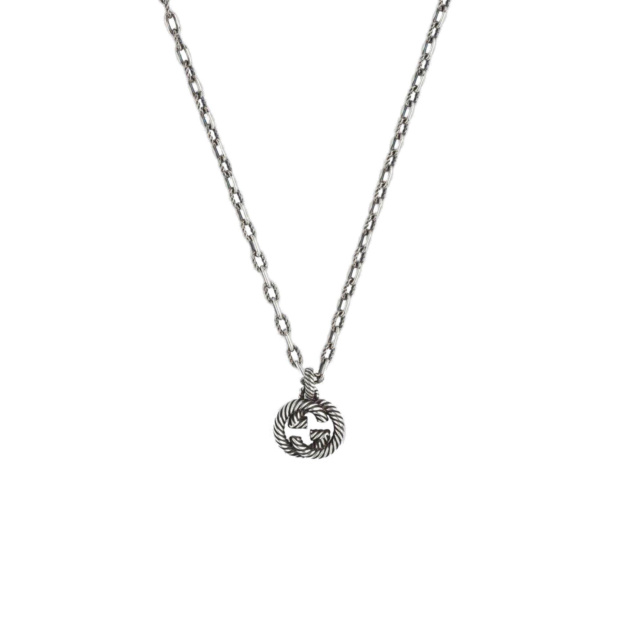 Collana Gucci Interlocking G in argento YBB60415500100U