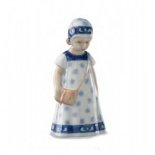 Figure Royal Copenhagen Elsa with white dress and blue flowers limited edition 1028404